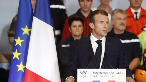 VIDEO. Fonds de 80 millions d'euros, accélération des procédures... Les mesures d'Emmanuel Macron aux sinistrés de l'Aude