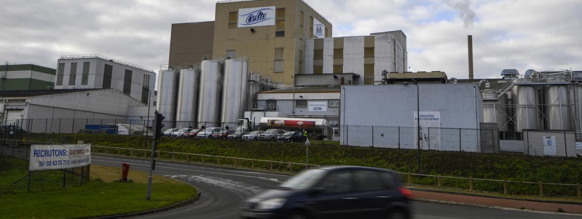 L\'usine Lactalis de Craon (Mayenne), le 4 décembre 2017.