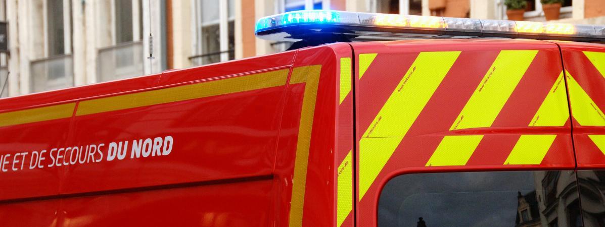 Un camion de pompiers à Lille. (Illustration).