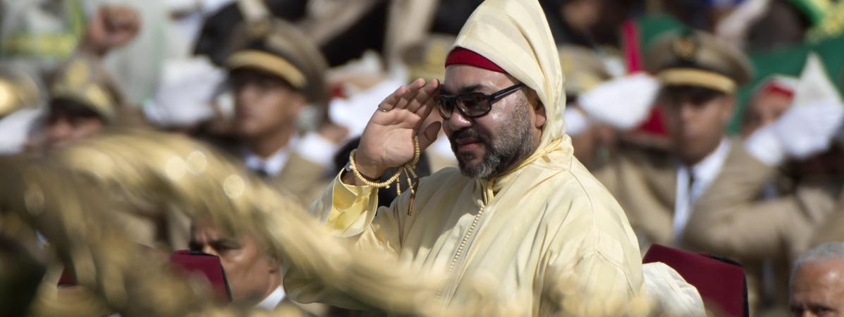 Le roi du Maroc, Mohammed VI, lors d\'une cérémonie à Tétouan (Maroc), le 31 juillet 2018.