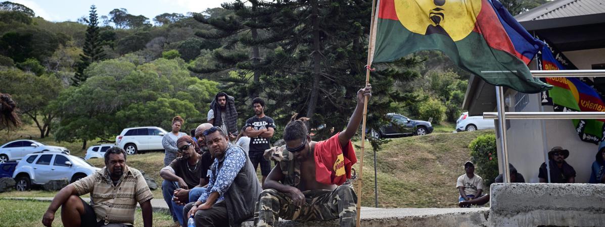 Des indépendantistes calédoniens à Nouméa, le 30 octobre 2018.
