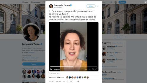 """VIDEO. """"Il n'y aucun complot du gouvernement contre la voiture"""" : la secrétaire d'Etat à l'Ecologie répond à la colère d'une automobiliste"""