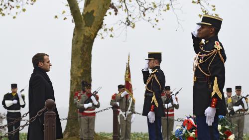 """DIRECT. Centenaire du 11-Novembre : Emmanuel Macron rend hommage aux 12000morts de la """"guerre des mines"""""""