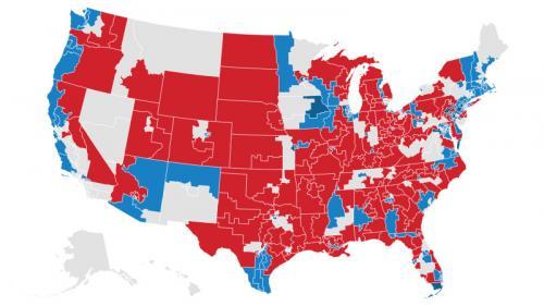 """A quoi ressemble le Congrès américain après les """"midterms"""" ? Découvrez les résultats avec notre carte"""