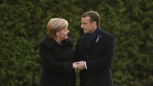 VIDEO. 11-Novembre Main dans la main, Emmanuel Macron et Angela Merkel commémorent l'armistice