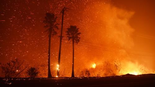"""VIDEO. """"Allons-nous-en d'ici !"""" : en Californie, les habitants fuient les flammes"""