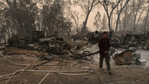 Incendies en Californie : le bilan s'alourdit à 66 morts, plus de 600 personnes portées disparues