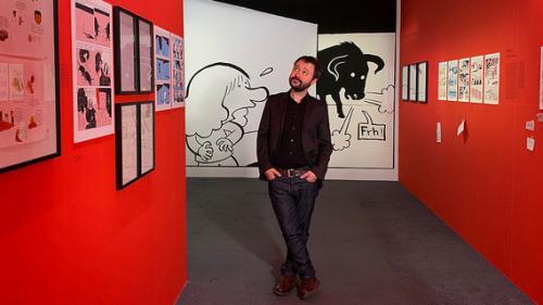 """""""L'écriture dessinée"""" : l'auteur de BD Riad Sattouf nous fait visiter son exposition au Centre Pompidou"""