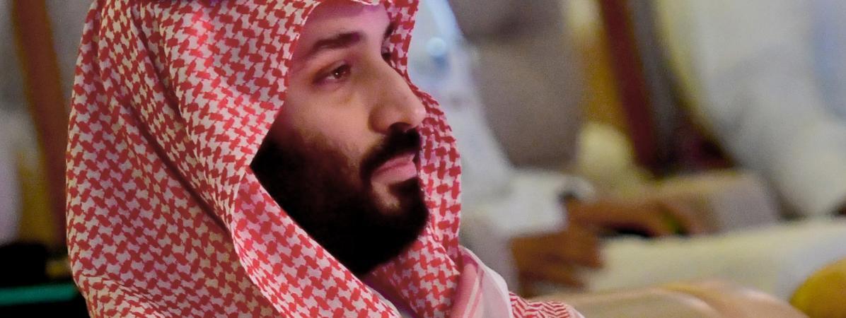 """Le prince héritier saoudien, Mohammed ben Salmane, le 24 octobre 2018, lors du \""""Davos du désert\"""", un forum économique mondial, organisé à Riyad (Arabie saoudite)."""