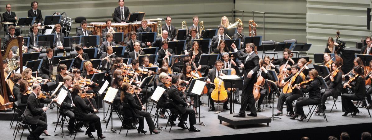 """Le Bolero de Ravel interprété lors de la \""""Folle journée\"""" de Nantes par l\'Orchestre Lamoureuxdirigé par le Français, Fayçal Karoui, le 3 février 2013."""