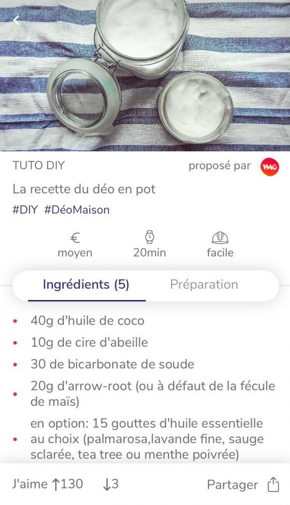 """Dans la catégorie \""""do it yourself\"""", WAG propose de fabriquer son propre déodorant."""