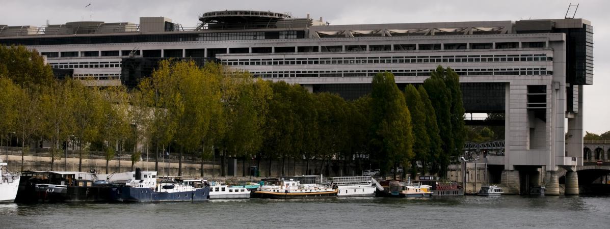 Le ministère de l\'Économie à Paris.