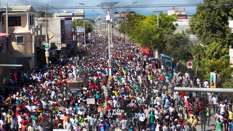 Ha ti manifeste contre la corruption - Manifestation a port au prince aujourd hui ...