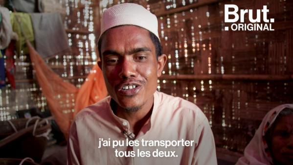 VIDEO. Ce Rohingya porte ses deux parents sur son dos pour les sauver des massacres en Birmanie