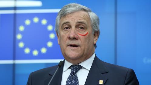 Pourquoi le président du Parlement européen est-il apparu avec une marque rouge sous l'œil?