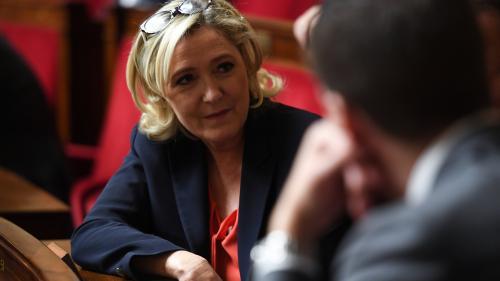 """VIDEO. """"Gilets jaunes"""" : Marine Le Pen réclame la dissolution de l'Assemblée nationale"""