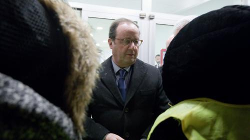 """DIRECT. François Hollande défend son bilan devant des """"gilets jaunes"""", il doit en rencontrer d'autres vendredi"""