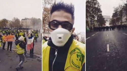 """Un """"gilet jaune"""" alsacien, blessé à Paris, fait un carton avec son Facebook Live de la manifestation"""