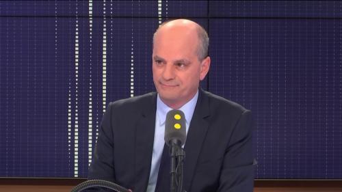 """VIDEO. Manifestations de lycéens : """"Ce mouvement est extrêmement violent"""", s'inquiète Jean-Michel Blanquer"""