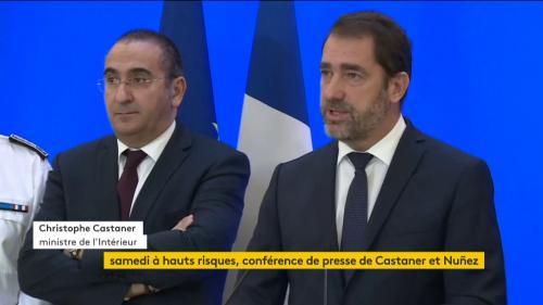 """VIDEO. """"Gilets jaunes"""" : le ministre de l'Intérieur porte plainte contre Dupont-Aignan pour ses propos sur les """"petits casseurs de Castaner"""""""