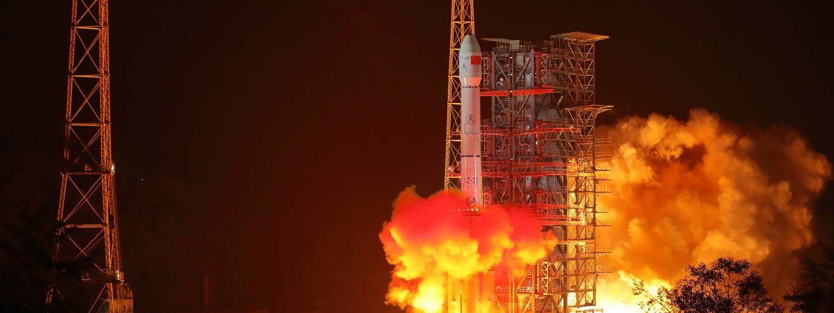 Lancement deChang\'e-4 au sud-ouest de la Chine, le 7 décembre 2018.