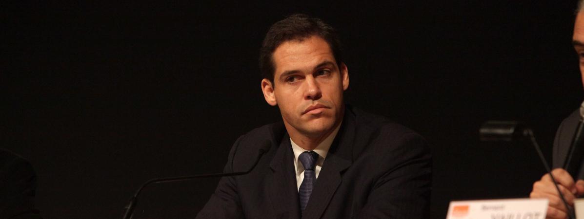 Le prince de Bourbon, duc d\'Anjou, donne une conférence de presse à Paris, le 16 décembre 2010.