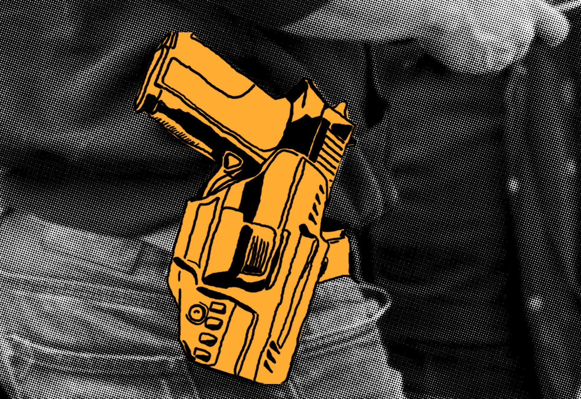 """Les policiers, en dehors de leurs heures de service, ont le droit de porter leur arme, accompagnée de leur carte professionnelle, d\'un brassard siglé \""""police\"""" et d\'un gilet pare-balles."""