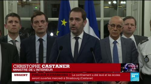 """VIDEO. Fusillade à Strasbourg : Christophe Castaner annonce des """"contrôles renforcés"""" aux frontières et sur les marchés de Noël"""