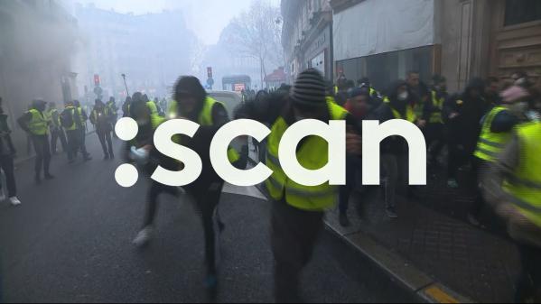 """VIDEO. :SCAN : paroles de """"gilets jaunes"""" sur Franceinfo (canal 27)"""