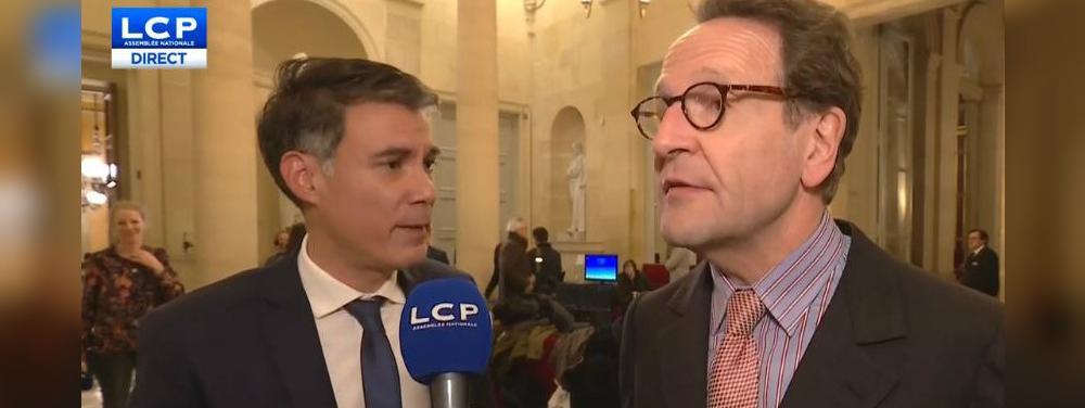 Olivier Faure et Gilles Le Gendre, le 13 décembre 2018.