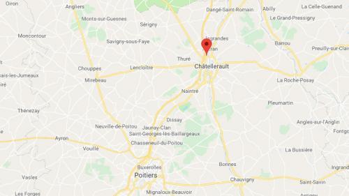 """Châtellerault : une statue de 15 mètres prend feu sur un barrage des """"giletsjaunes"""""""