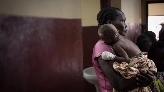 A l'hôpital pédiatrique de Bangui, le 4décembre 2018.