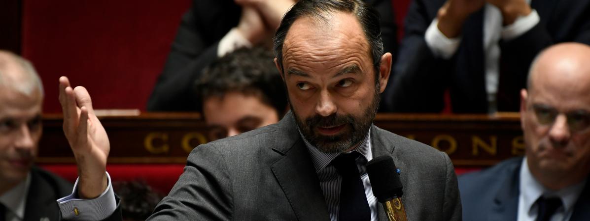 Le Premier ministre Edouard Philippe lors des questions au gouvernement à l\'Assemblée nationale, le 18 décembre 2018.