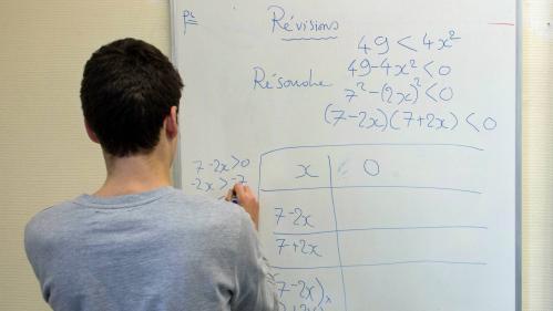 """Les maths absentes du tronc commun au bac: """"Le risque c'est qu'il y ait beaucoup plus d'élèves qu'avant qui n'en fassent plus"""""""