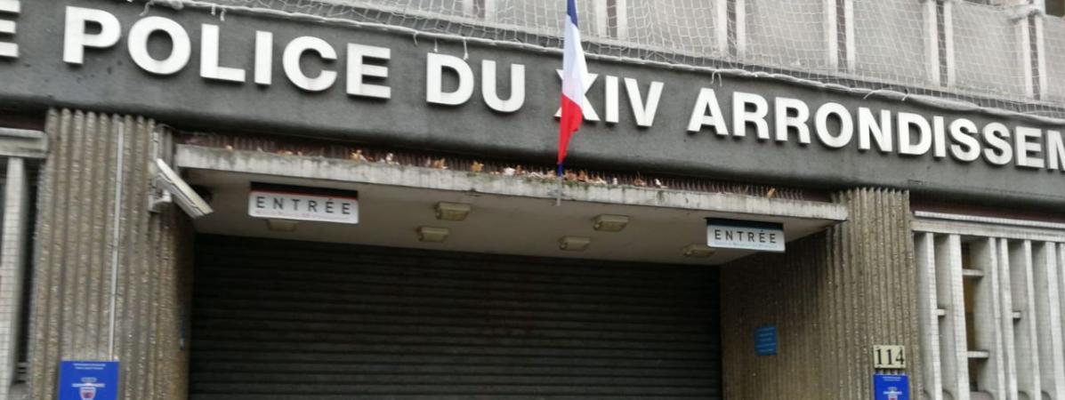 L  entrée du commissariat central du 14e arrondissement de Paris est restée  fermée, 5ed32b35e61f