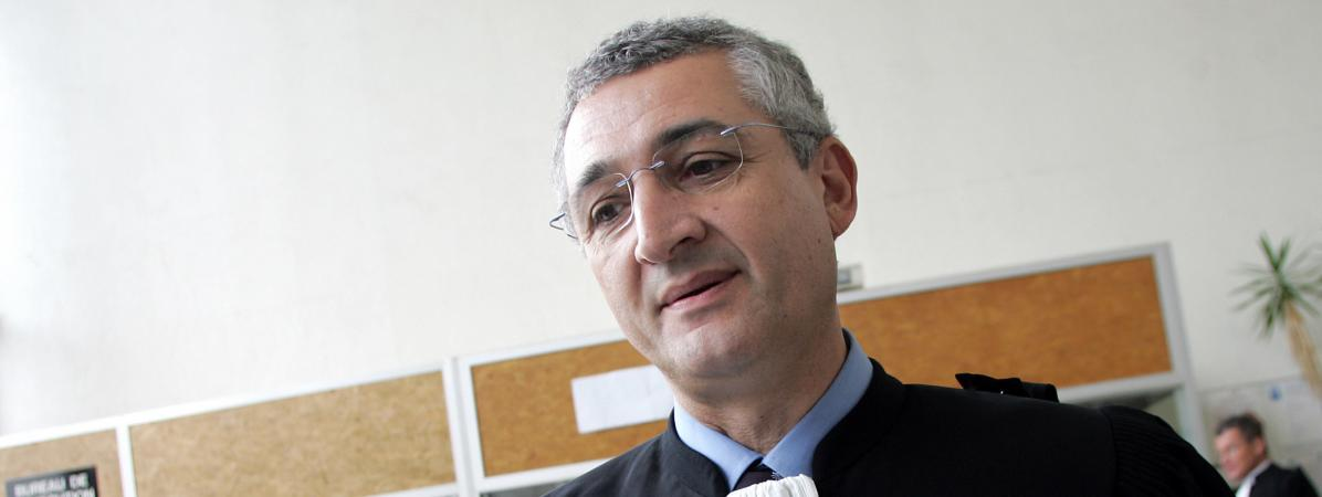 L\'avocat Gérard Chemla, le 29 avril 2008.