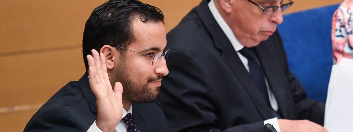 Alexandre Benalla devant la commission d\'enquête du Sénat, le 19 septembre 2018.