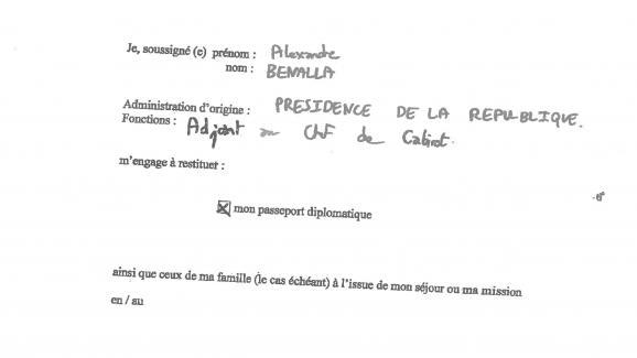 Alexandre Benalla s\'était engagé dans une lettre datée du 23 mai 2018 à restituer ses deux passeports diplomatiques.
