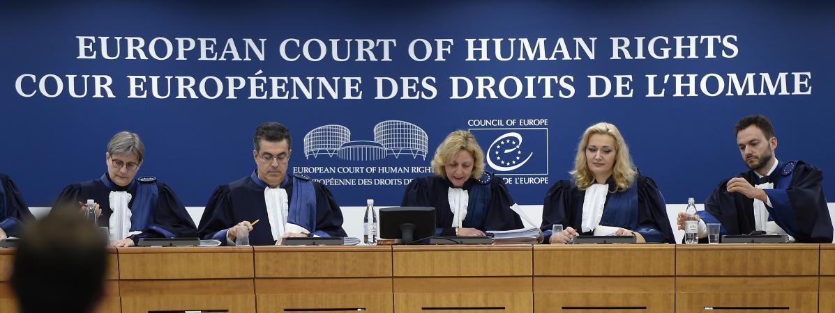 Les juges de la Grande chambre de laCour européenne des droits de l\'homme, à Strasbourg, le 22 novembre 2017.