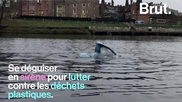 VIDEO. Elle nage dans l'eau froide de la Tamise pour sensibiliser sur la pollution plastique