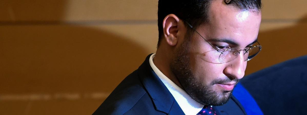 Alexandre Benalla, avant son audition par la commisson d\'enquête du Sénat, le 19 septembre 2018.