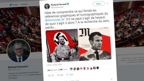 """""""Le Monde"""" s'est-il inspiré de l'""""iconographie nazie"""" pour sa une sur Macron ? On vous explique la polémique"""