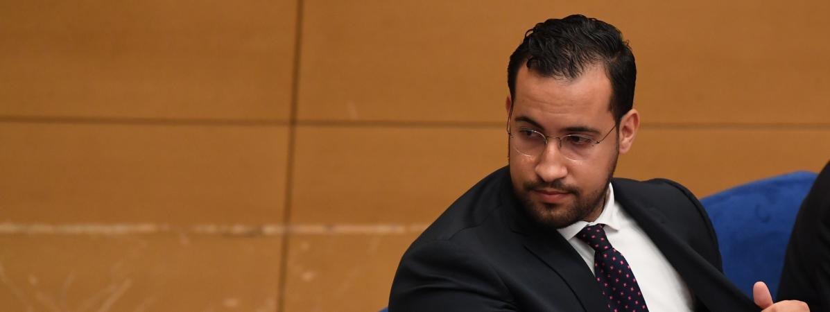 Alexandre Benalla, devant la commissiond\'enquête du Sénat,le 19 septembre 2018.