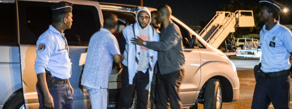 Peter Cherif, à Djibouti lors de son extradition vers la France, le 22 décembre 2018.