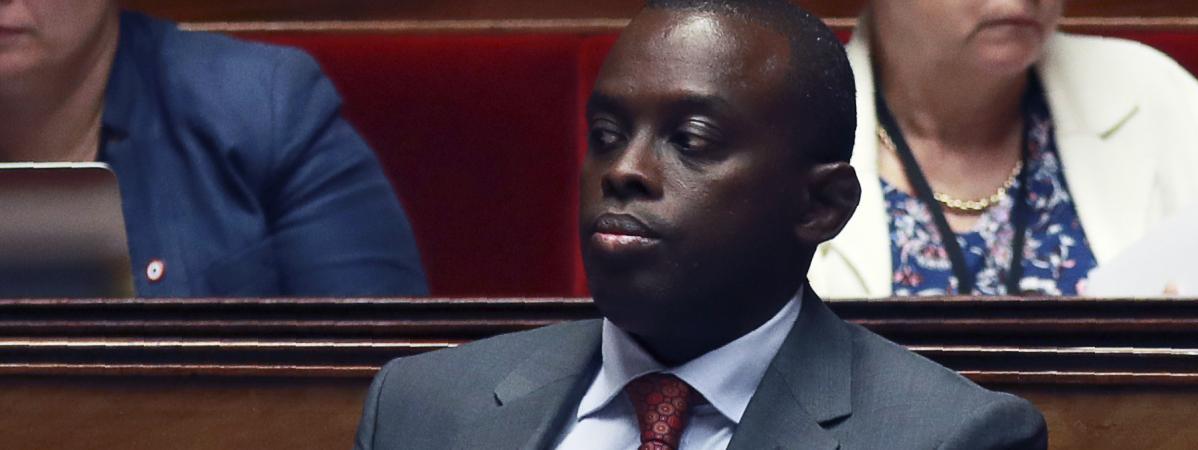 Le député LREM Jean-François Mbaye à l\'Assemblée nationale, le 27 juillet 2017.