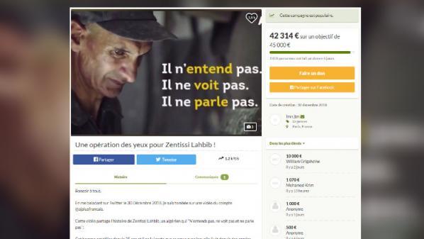 Une cagnotte en ligne atteint plus de 40000euros pour venir en aide à un homme aveugle, sourd et muet en Algérie