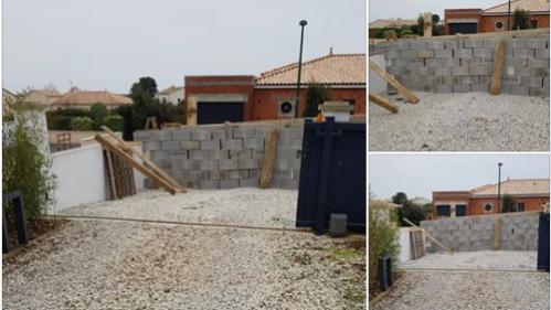 La députée Patricia Gallerneau se réveille avec un mur de parpaings devant sa maison