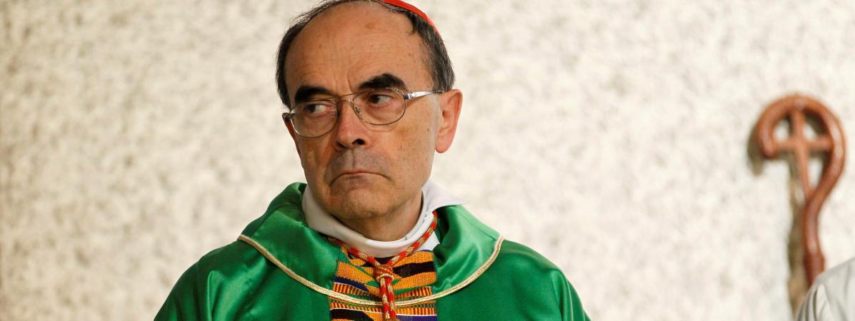 Le cardinal Barbarin lors d\'une cérémonie à Vénissieux (Rhône), le 30 septembre 2018.