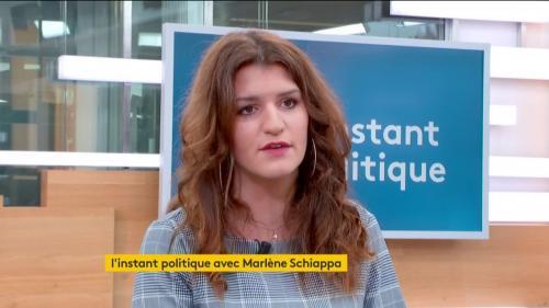 """VIDEO. Marlène Schiappa demande à Leetchi de """"suspendre"""" la cagnotte en soutien au boxeur de gendarmes"""
