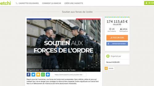 """""""Gilets jaunes"""" : quatre questions sur la cagnotte pour les policiers blessés pendant le mouvement"""